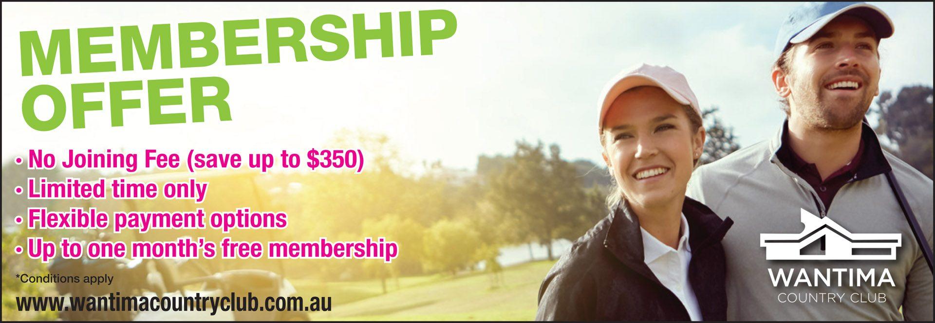 Membership offer website banner